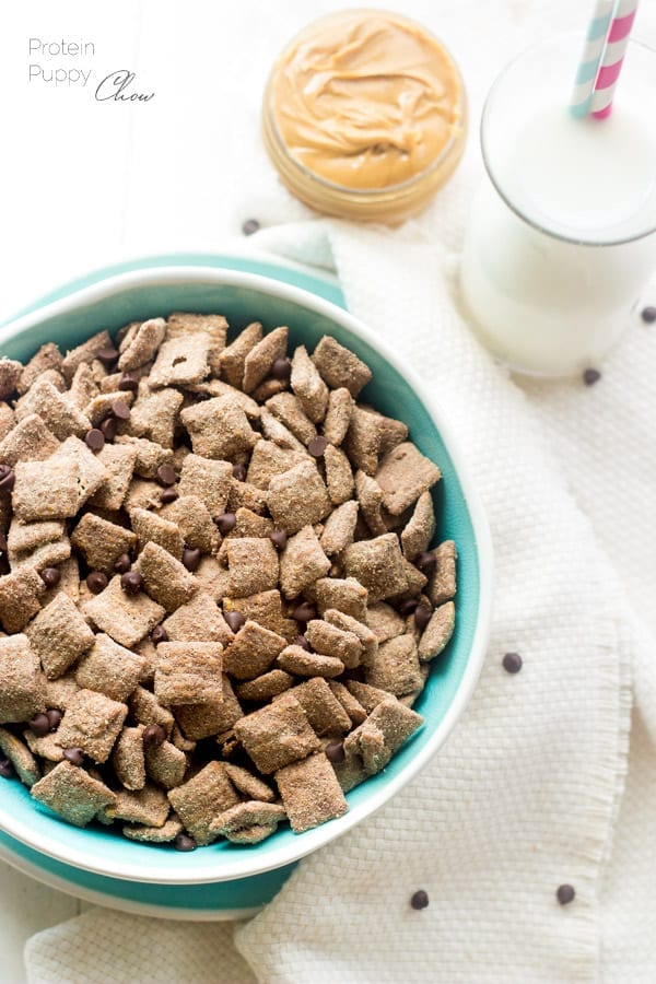 Protein Puppy Chow! Healthy snack mix that's chock full of protein!