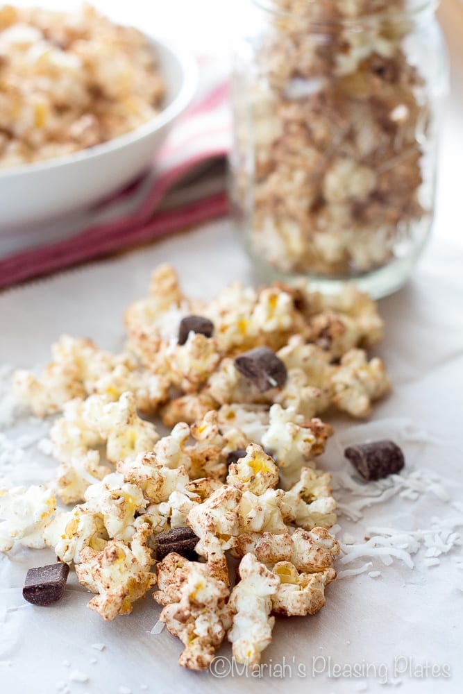 Chocolate Coconut Popcorn