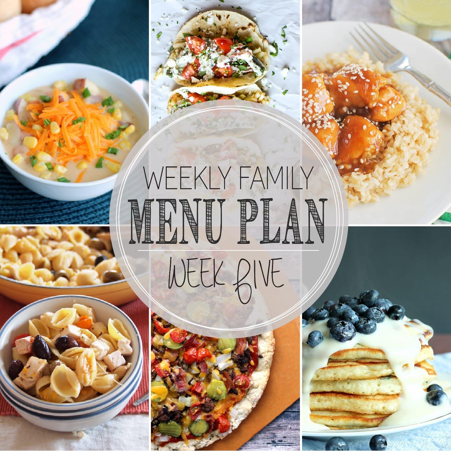 Weekly Family Menu Plan 5