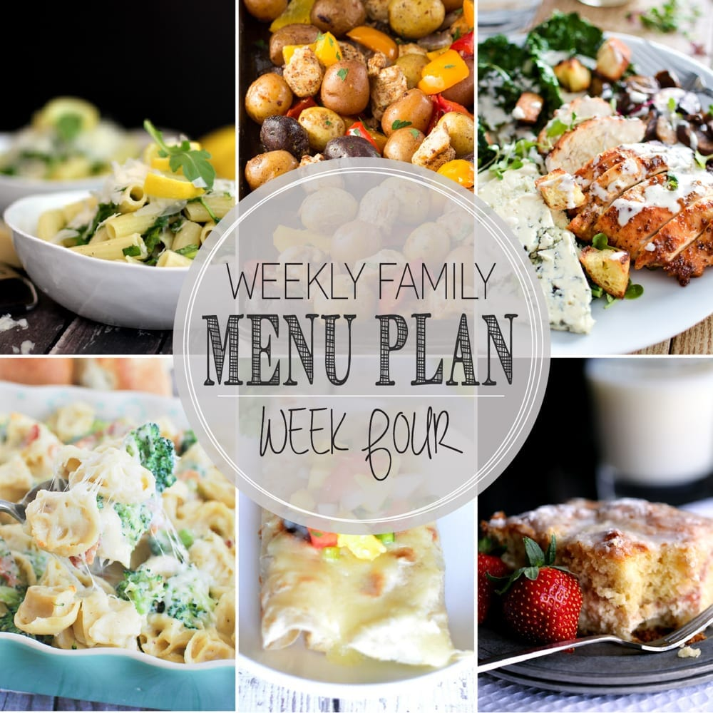 Weekly Family Menu Plan 4