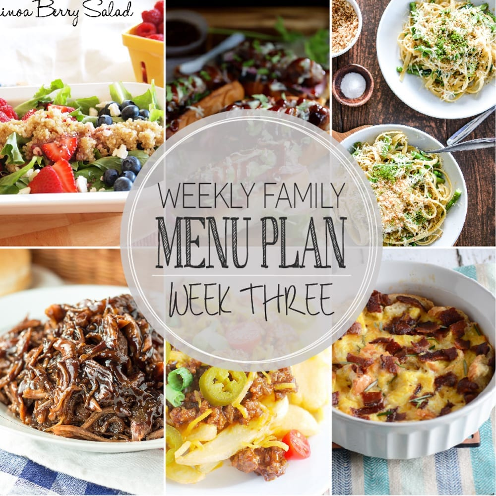 Weekly Family Menu Plan 3