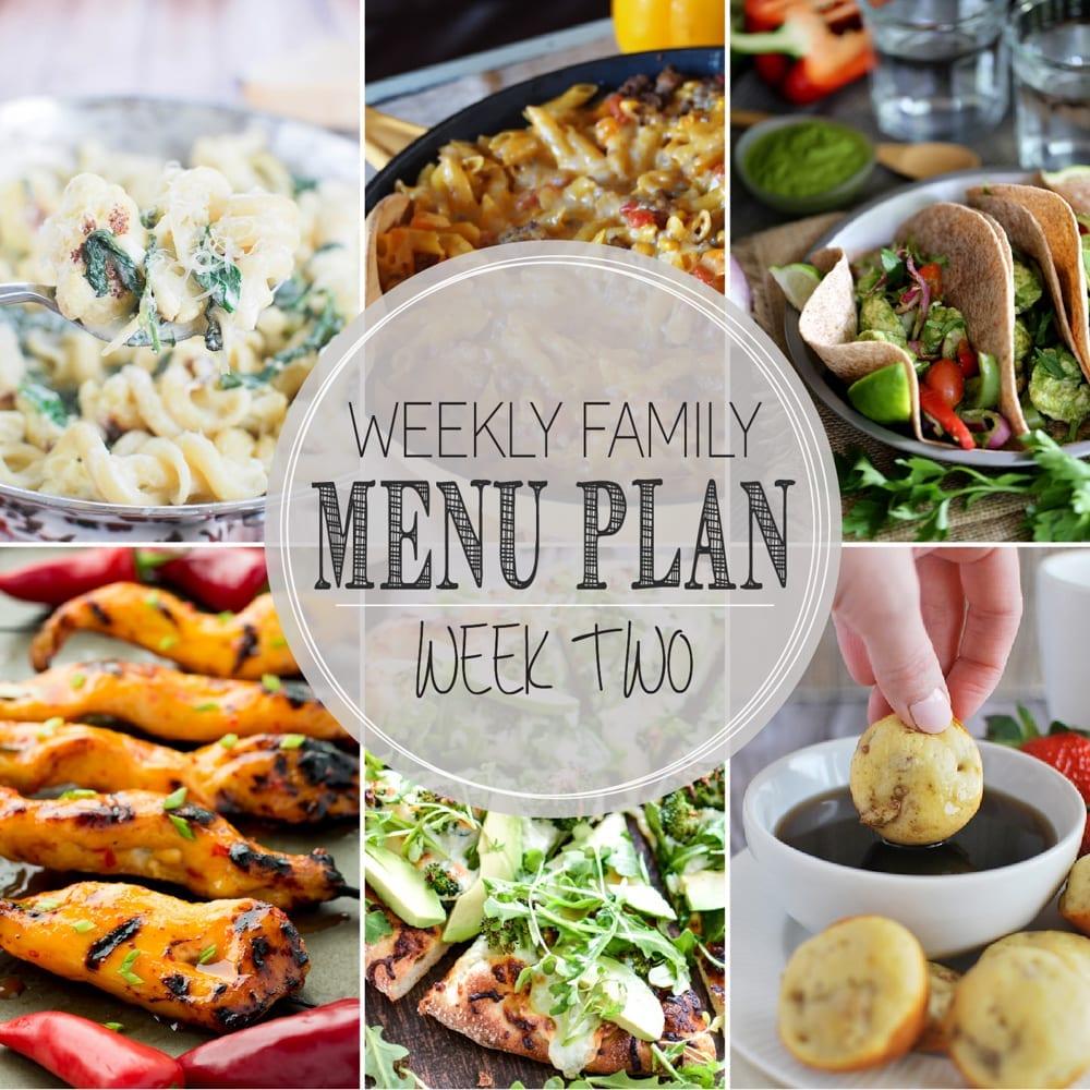 Weekly Family Menu Plan 2