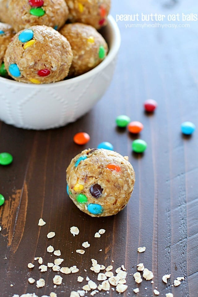 Super easy Peanut Butter Oat Balls! Fast and delicious!