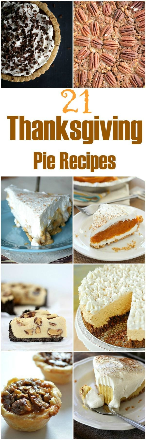 21 Thanksgiving pies