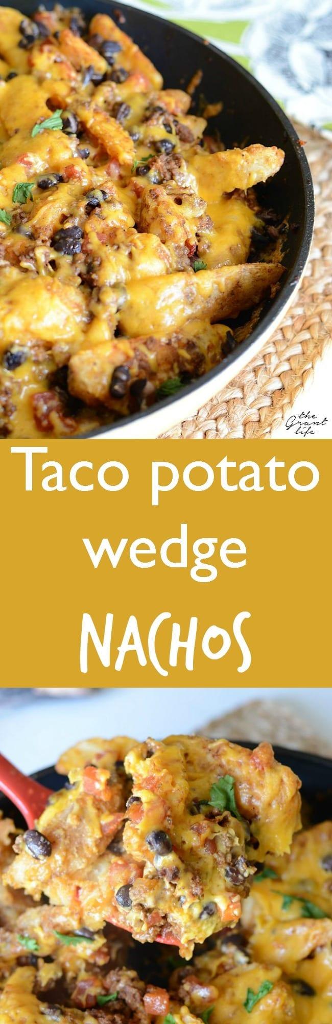 Taco potato wedge nachos