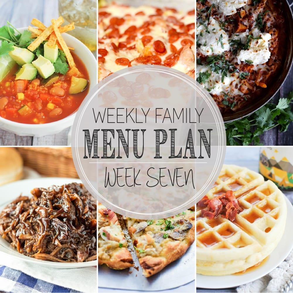Weekly family menu plan 7