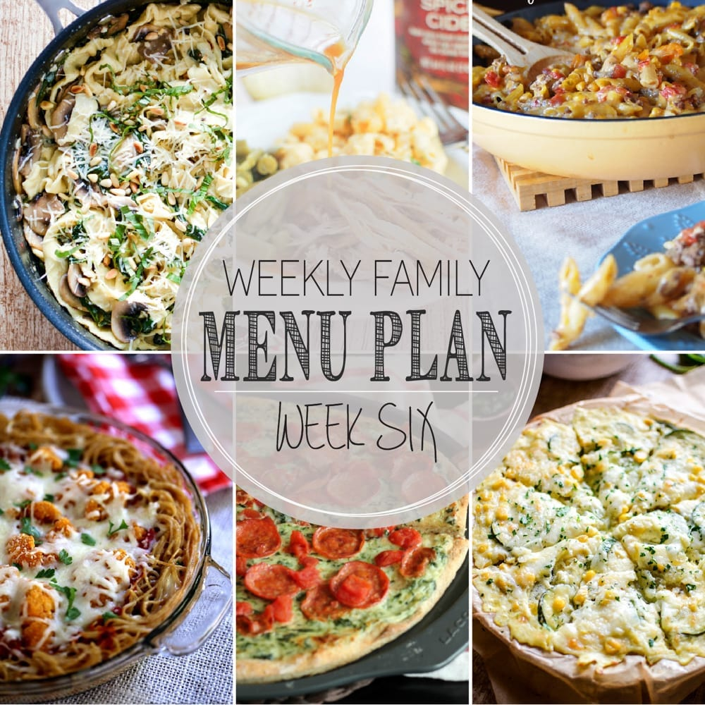 Weekly Family Menu Plan 6