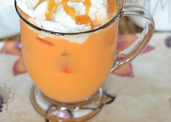 Iced Thai latte