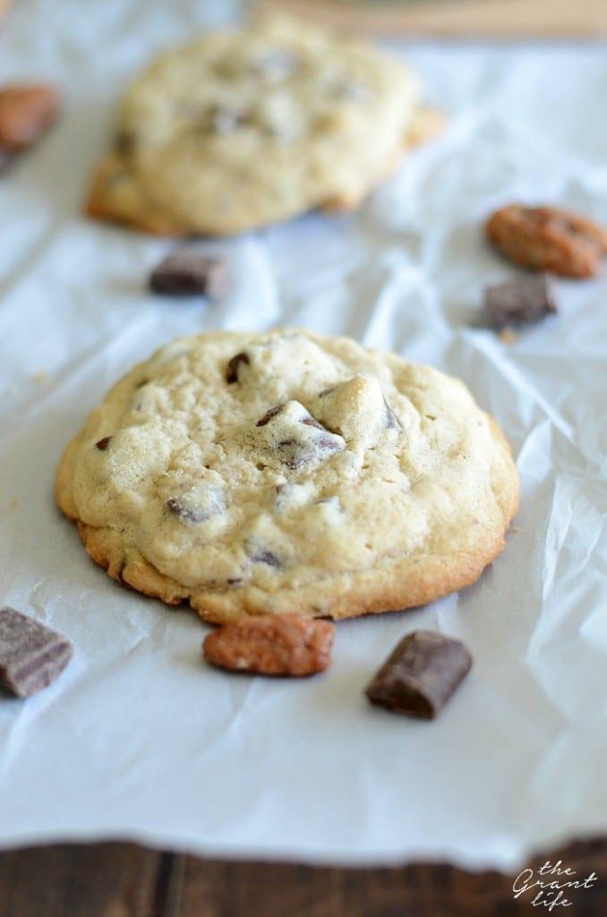 Pecan praline chocolate chip cookie recipe