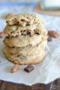 Praline pecan chocolate chip cookies