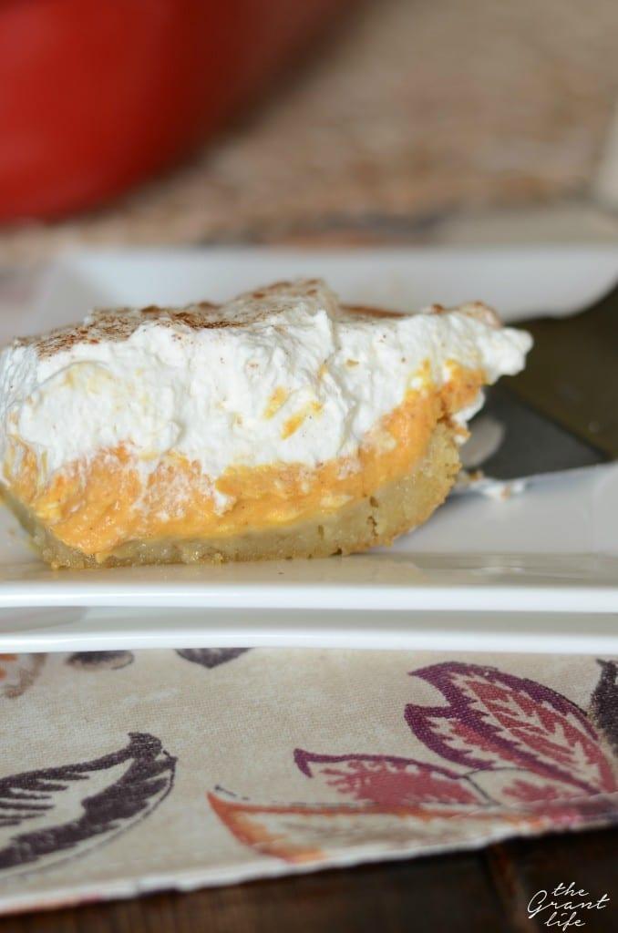 Sugar cookie pumpkin cheesecake dessert