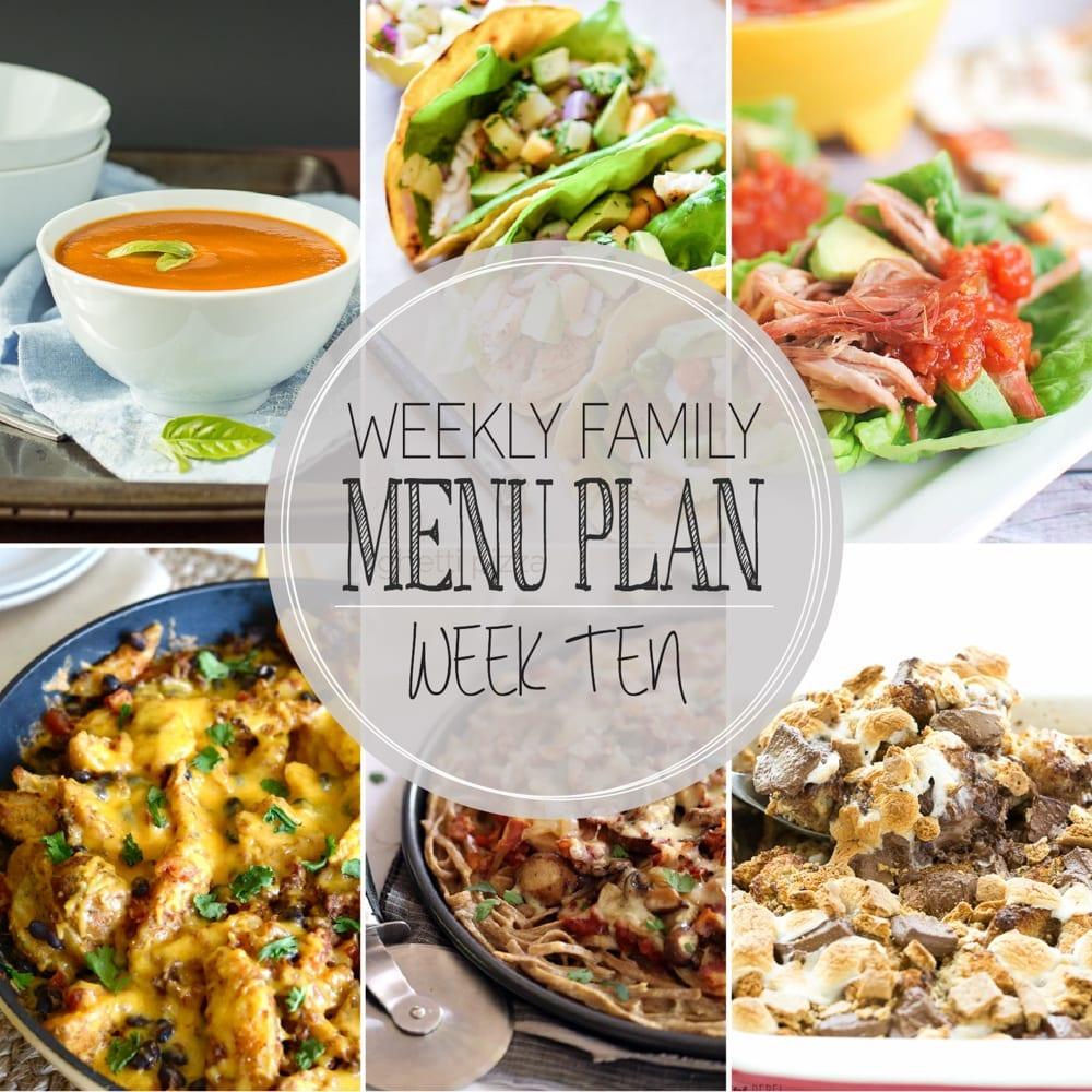 Weekly family menu plan 10