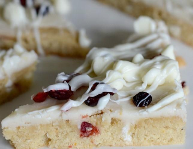 Cranberry bliss bar copycat recipe
