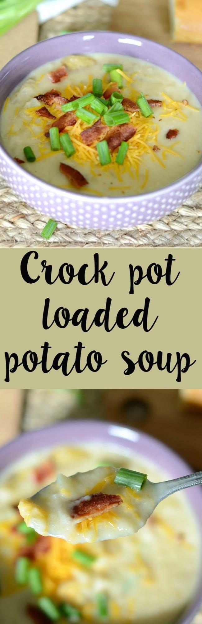 Crock pot loaded potato soup recipe