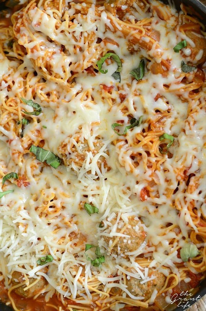 One pan spaghetti and meatball recipe!