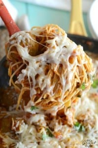 One pot spaghetti and meatballs!  Make this delicious recipe all in one pot!