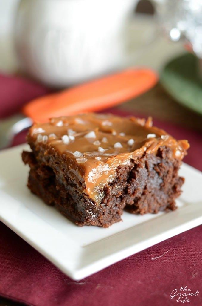 caramel browines