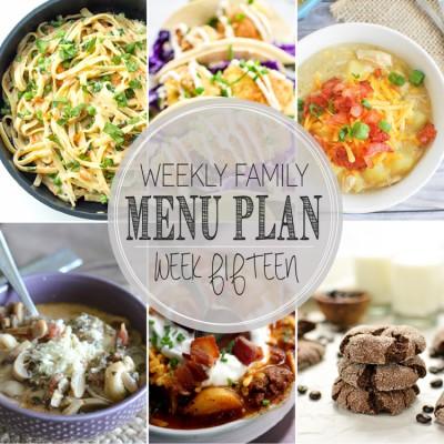 Weekly Family Menu Plan 15