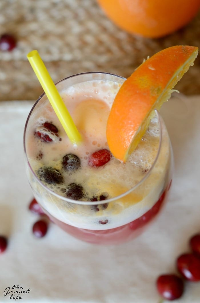 Sparkling cranberry punch!