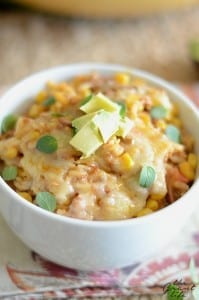 Homemade Mexican rice casserole recipe