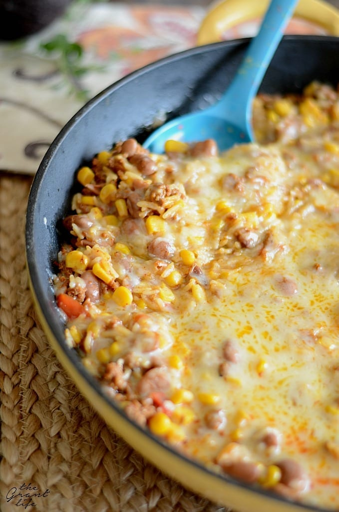 Mexican skillet casserole - made all in one pan!
