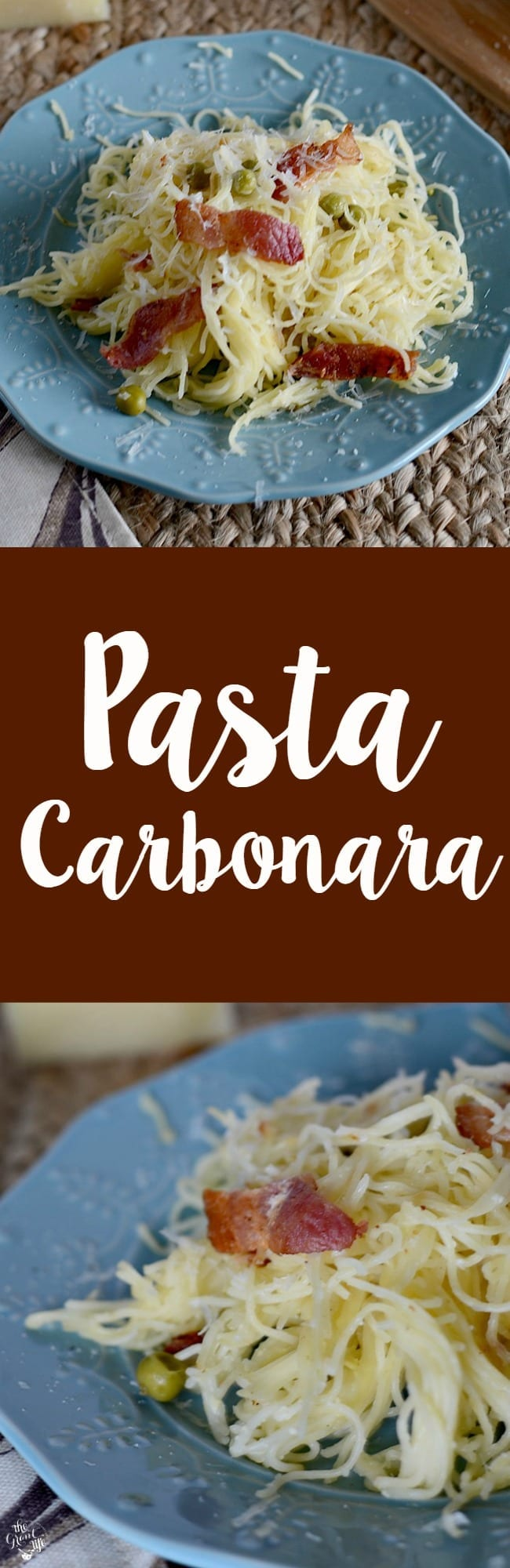 Homemade pasta carbonara recipe!  Make this easy pasta at home!  Perfect for an easy weeknight dinner