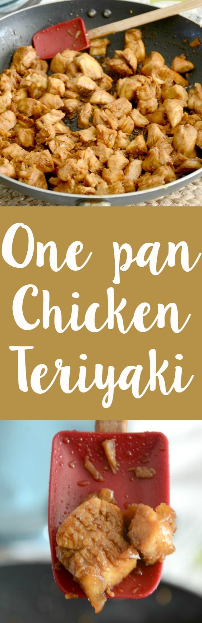 One pan chicken teriyaki recipe! This is so easy to make and perfect for a busy weeknight dinner!