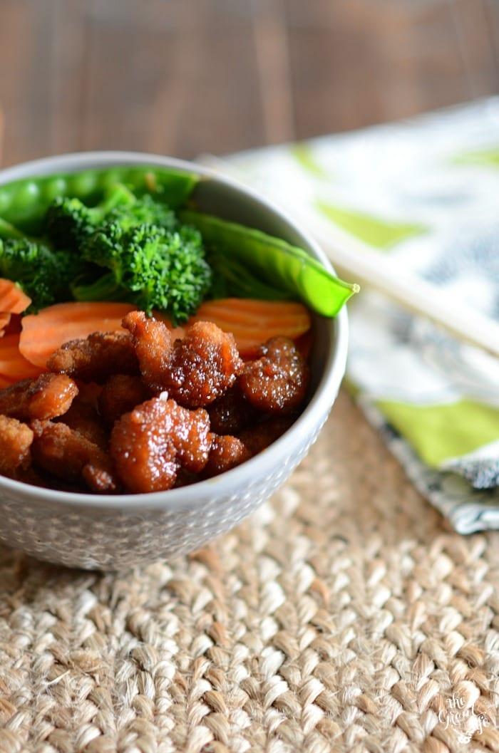 Easy shrimp teriyaki bowls