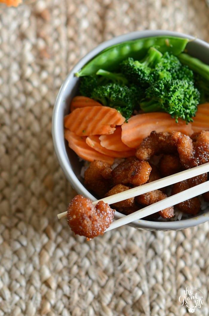 Shrimp terikyaki bowls