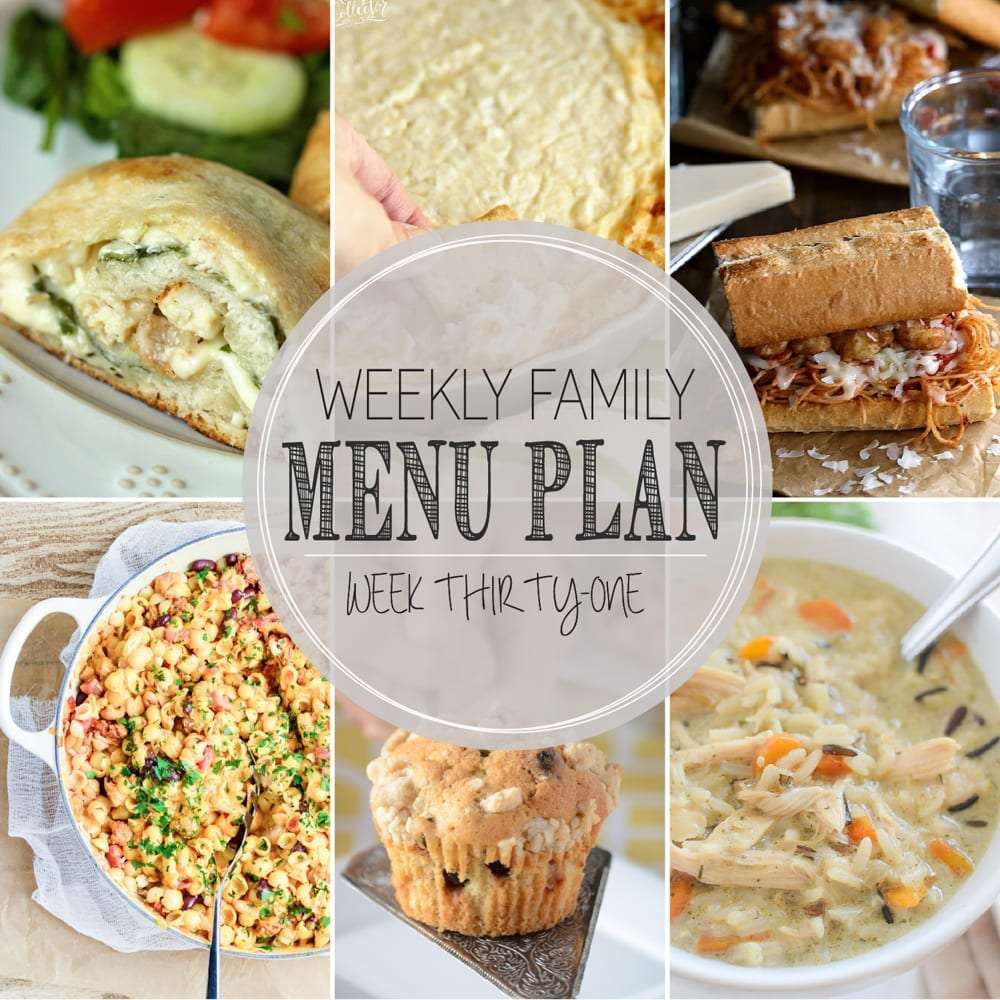 weekly family menu