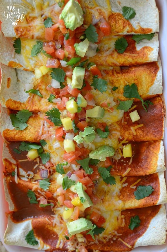 Easy weeknight enchiladas