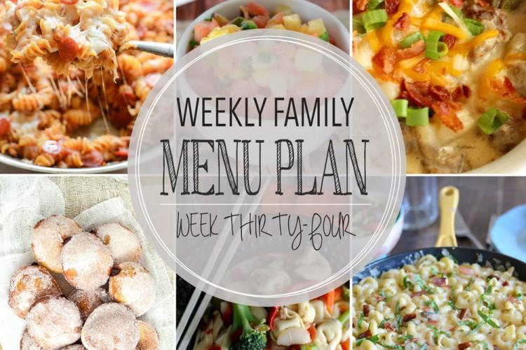 Weekly family menu plan 34