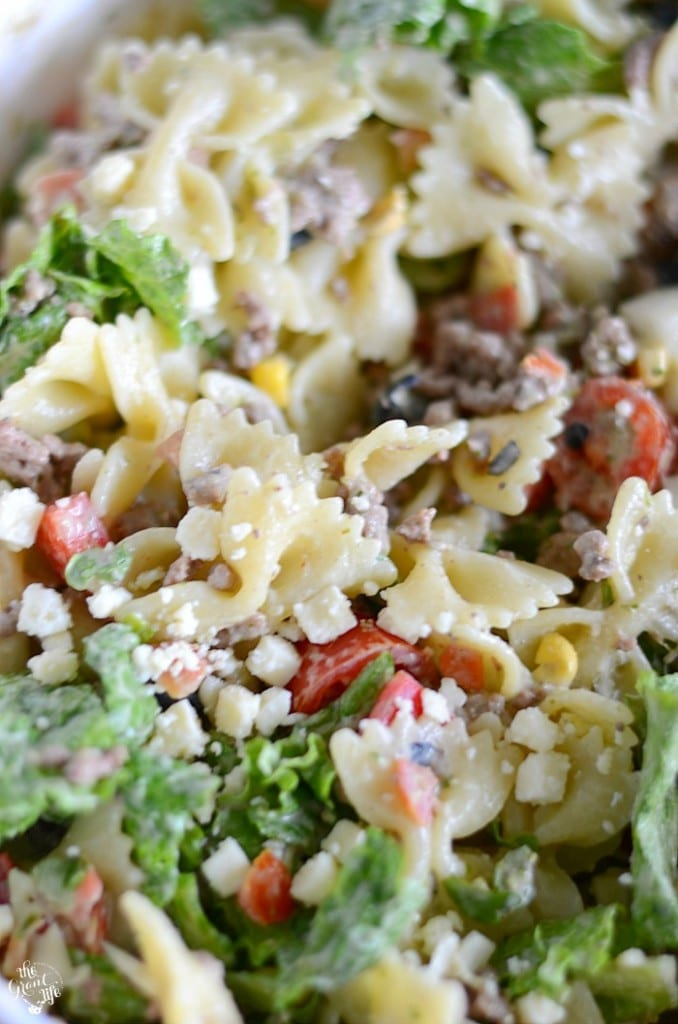 Easy taco salad pasta recipe
