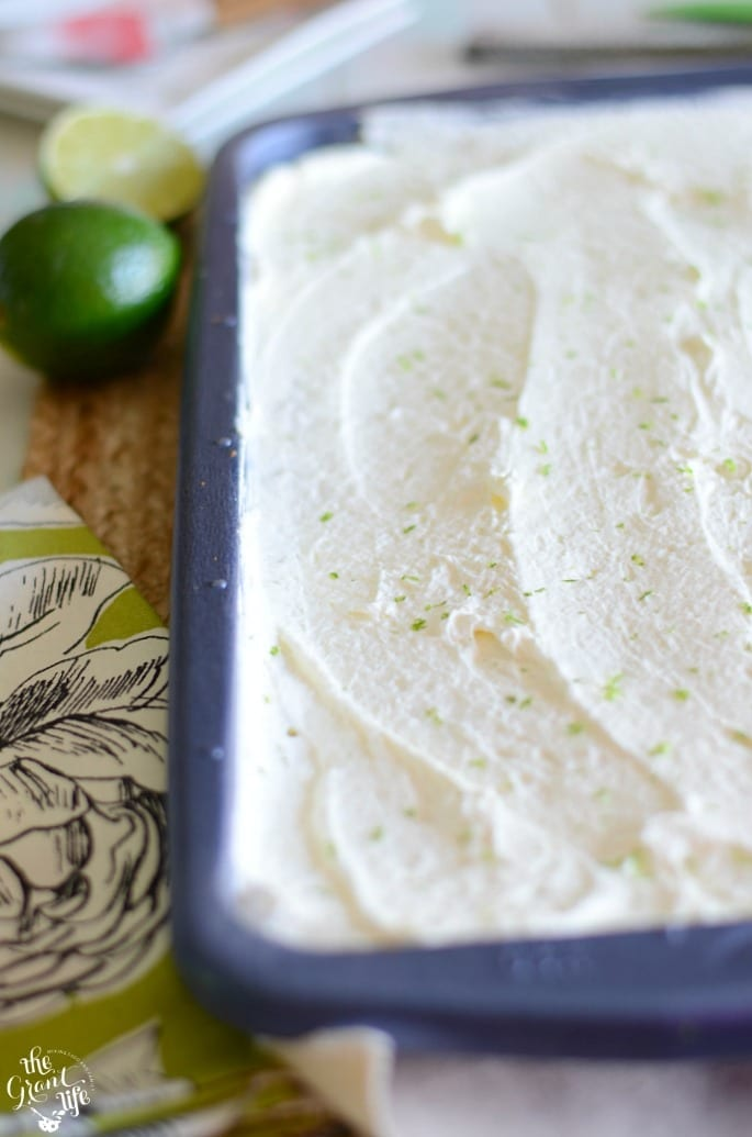 Homemade key lime slab pie recipe
