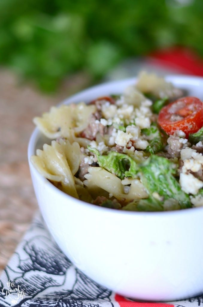 Homemade taco pasta salad! A perfect summer treat