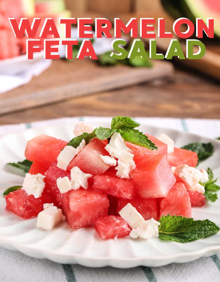 How to make watermelon feta salad with honey lime drizzle