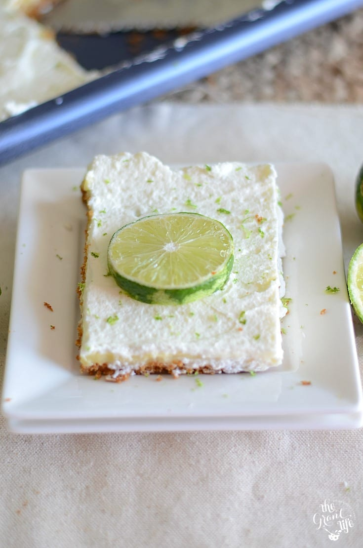 Perfect for summer parties - key lime slab pie!