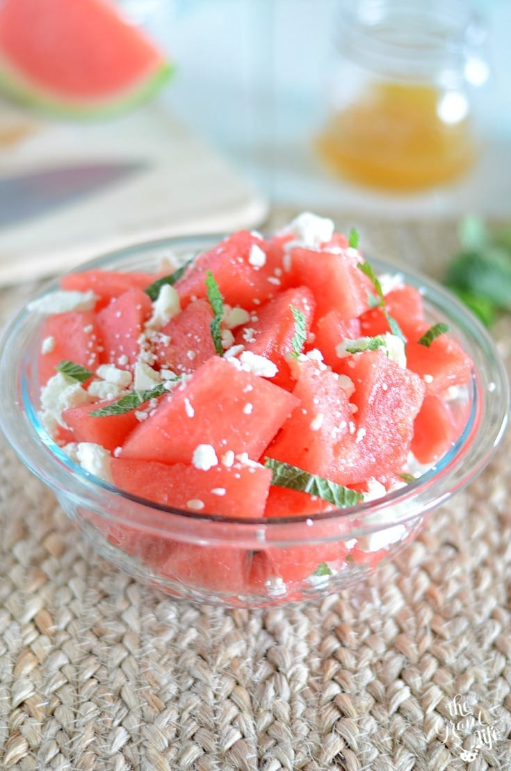 Refreshing watermelon feta salad