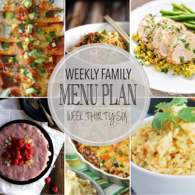 Weekly family menu plan 36