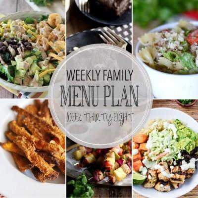 Weekly family menu plan 38