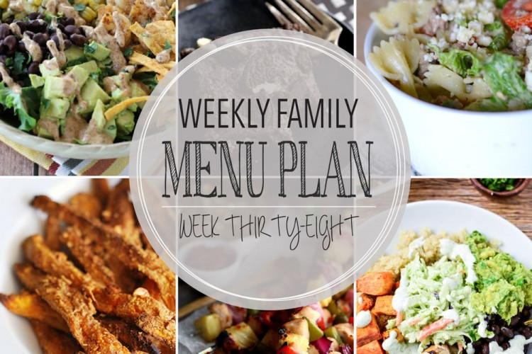Weekly family menu plan 38