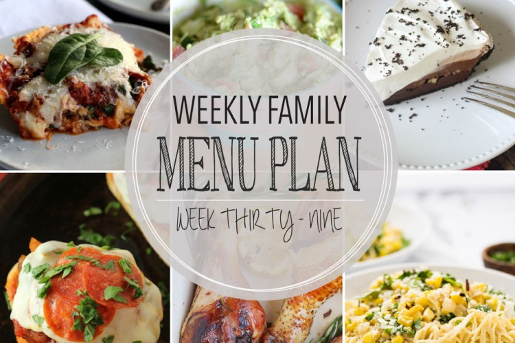 Weekly family menu plan 39