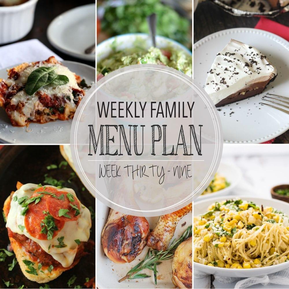 Weekly family menu plan 39
