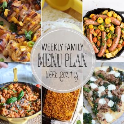 Weekly family menu plan 40