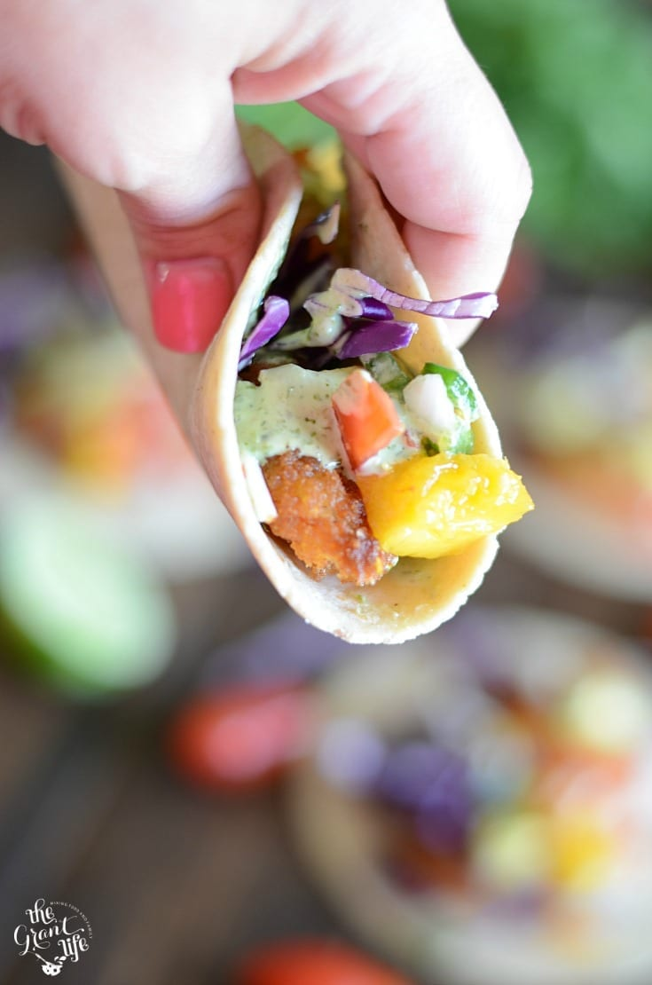 Mango shrimp tacos