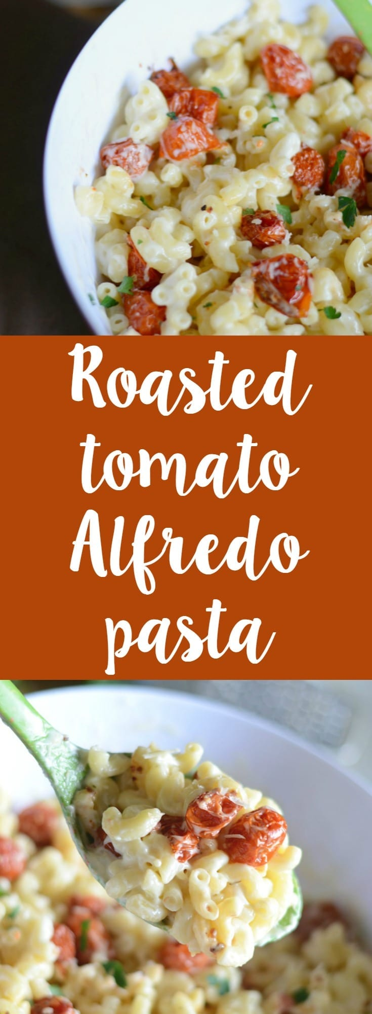 Roasted tomato Alfredo pasta recipe! Make this easy pasta at home