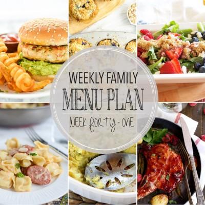 Weekly family menu plan 41