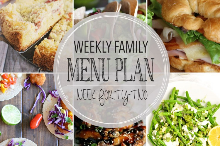 Weekly family menu plan 42