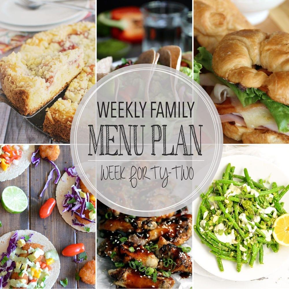 Weekly family menu plan 42