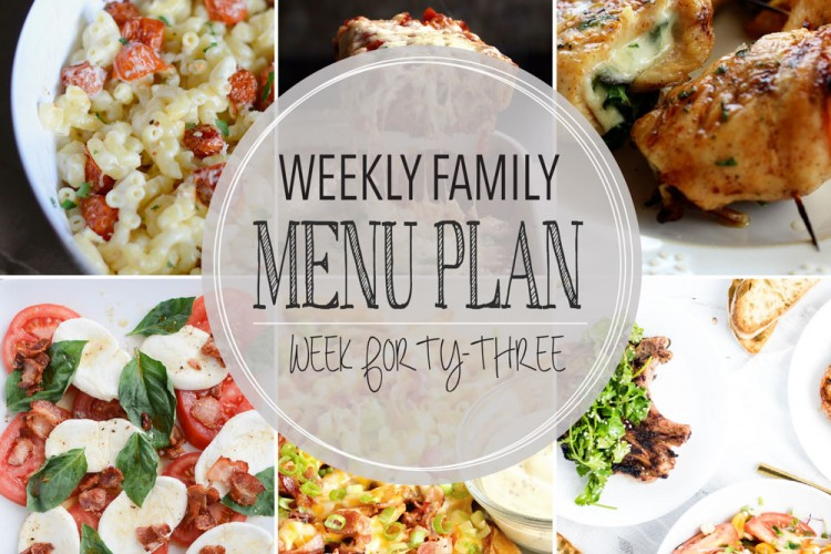 Weekly family menu plan